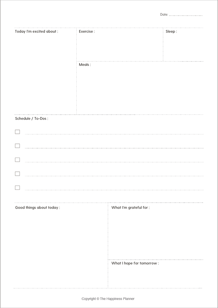 Printables: #SelfCare - The Happiness Planner®
