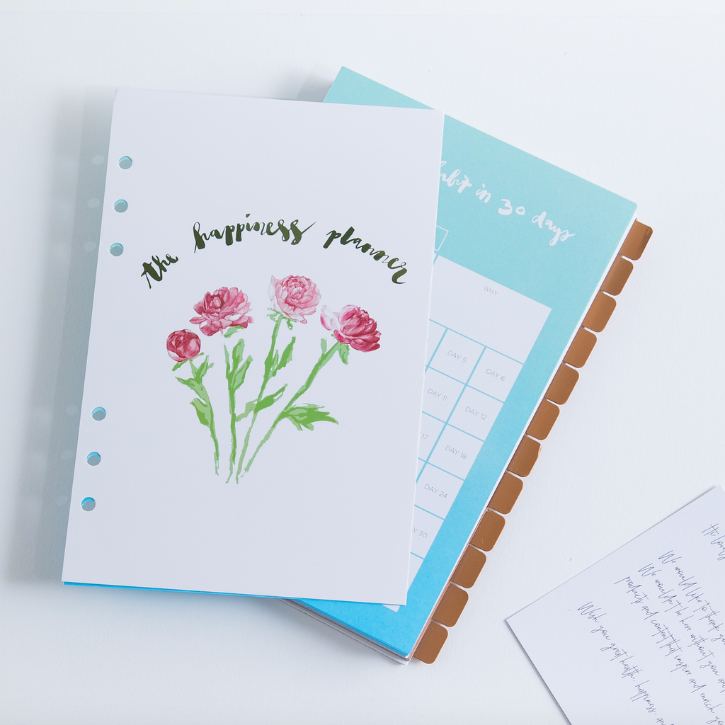 """Change a Habit in 30 Days"" Inserts - The Happiness Planner®"