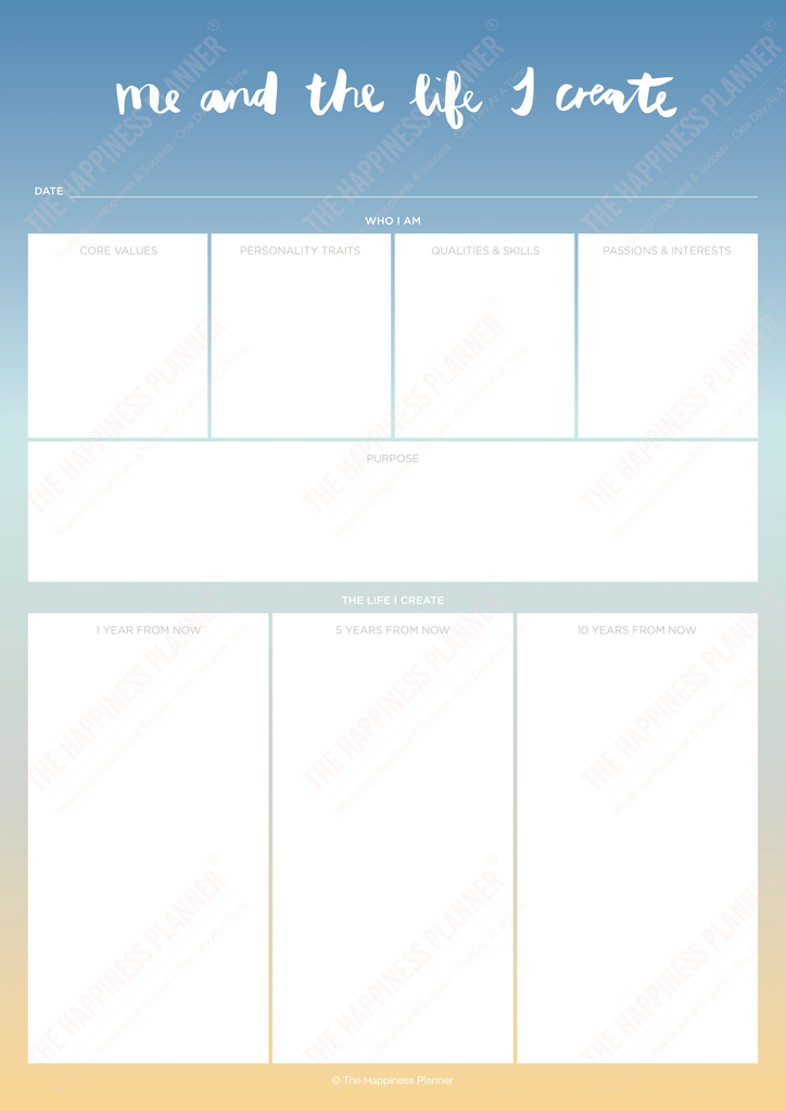 Premium Printables: #Purpose - The Happiness Planner®