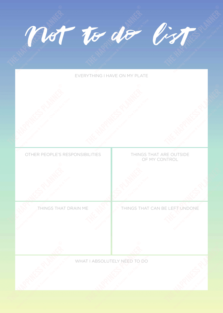 Premium Printables: #Anxiety/Worry - The Happiness Planner®