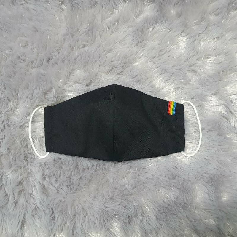 Black Pride Mask | LGBT Flag
