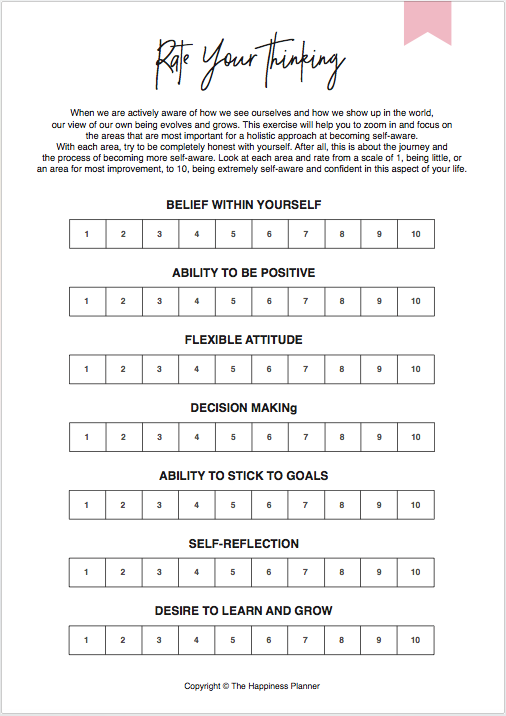#SelfAwareness Box - The Happiness Planner®