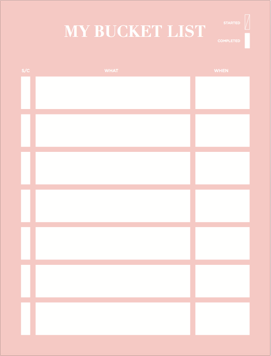 Bucket List Notepad - The Happiness Planner®