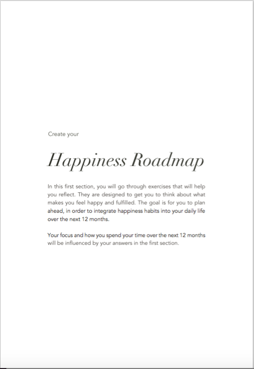 The Happiness Roadmap