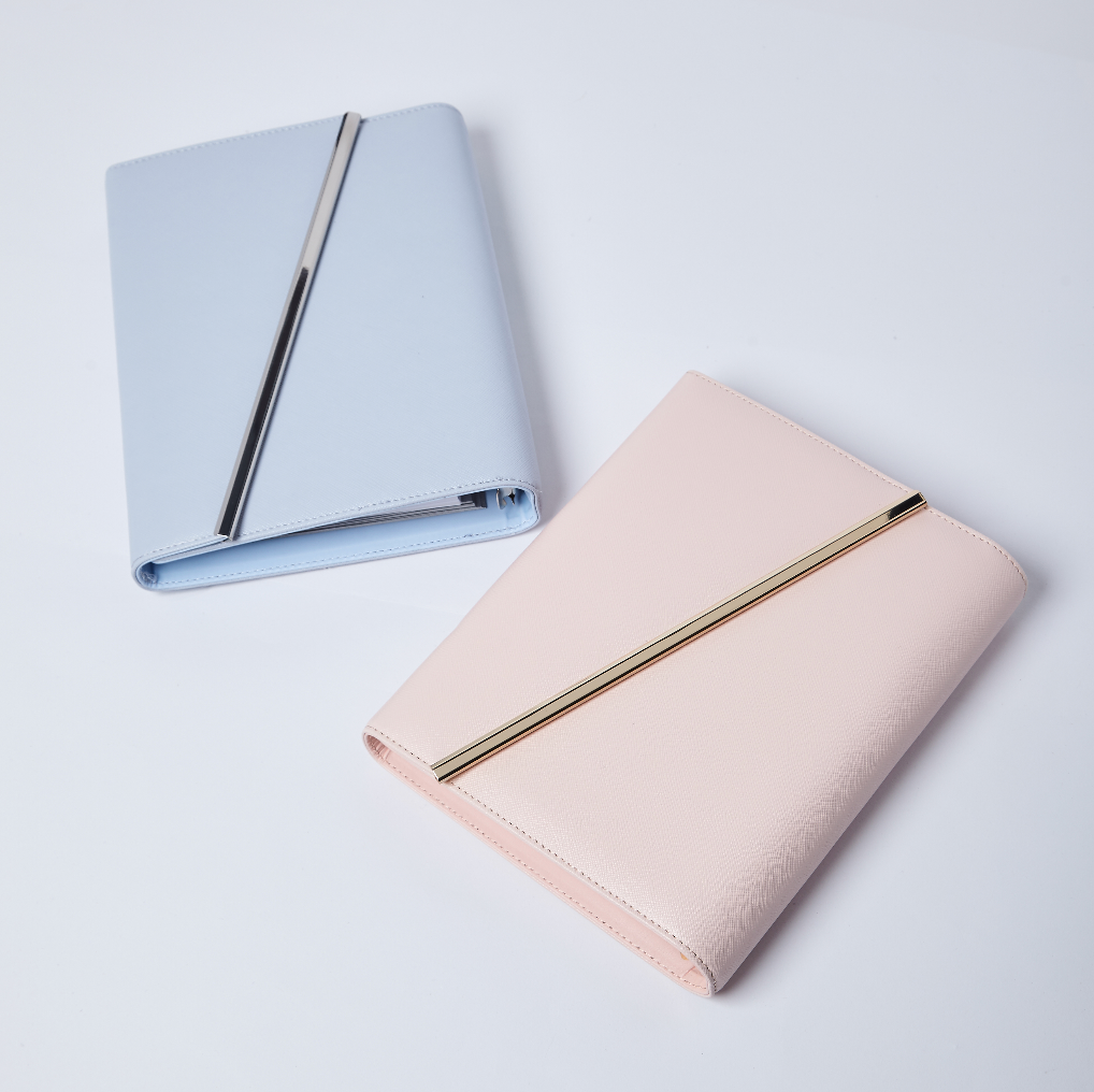 Leather Binder | Pink & Blue | 2018 Inserts - The Happiness Planner®