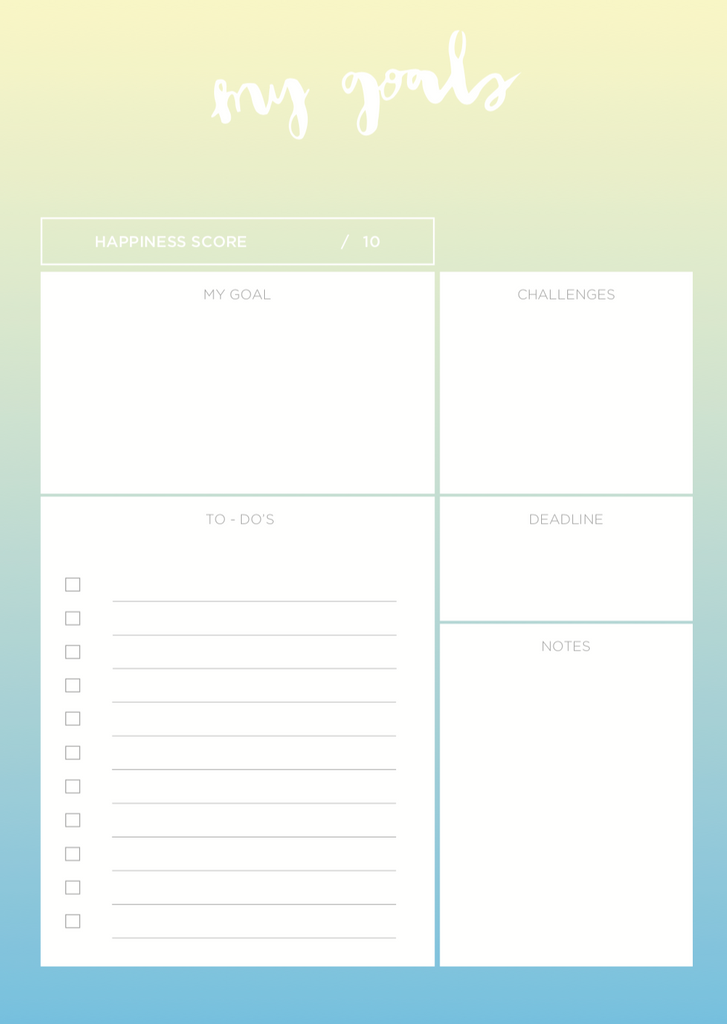"""My Goals"" Notepad - The Happiness Planner®"