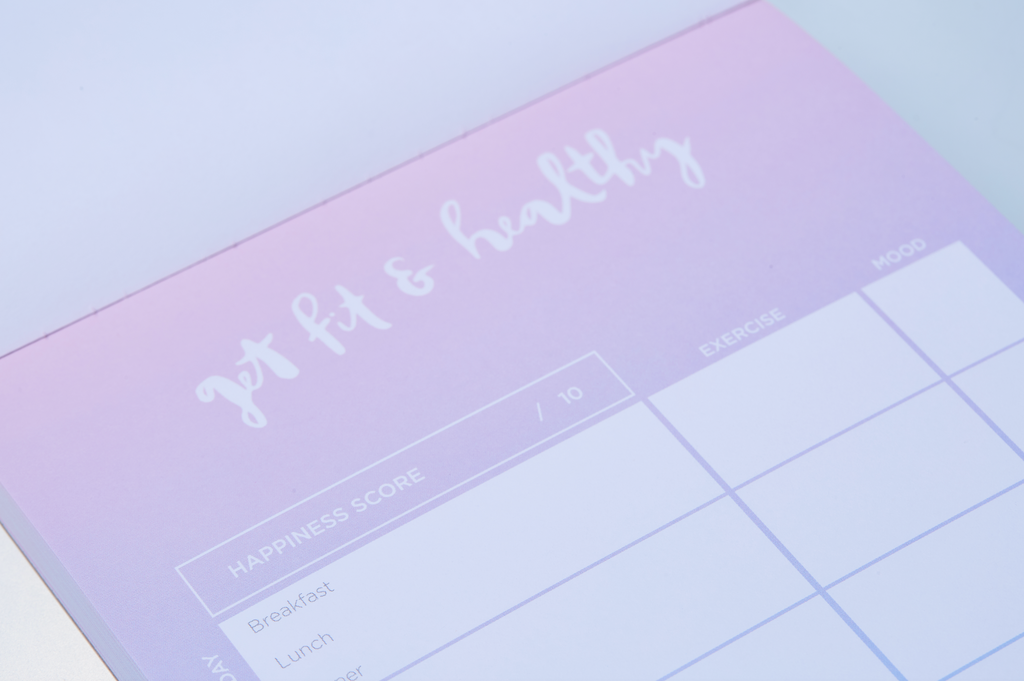 """Get Fit & Healthy"" Notepad - The Happiness Planner®"
