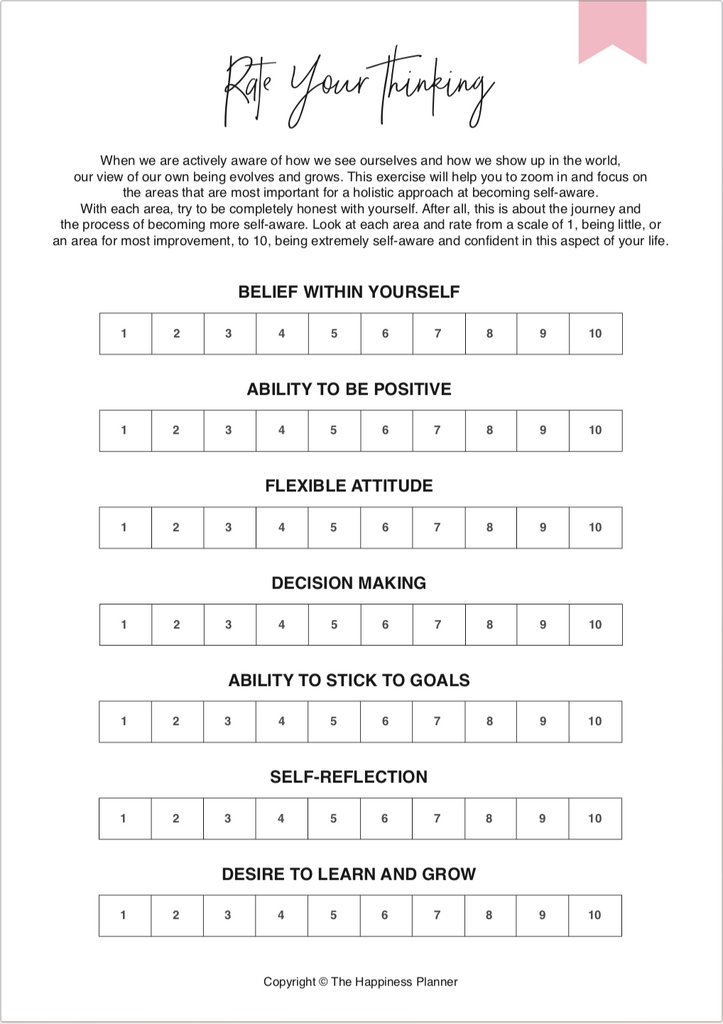 Printables: #SelfAwareness - The Happiness Planner®
