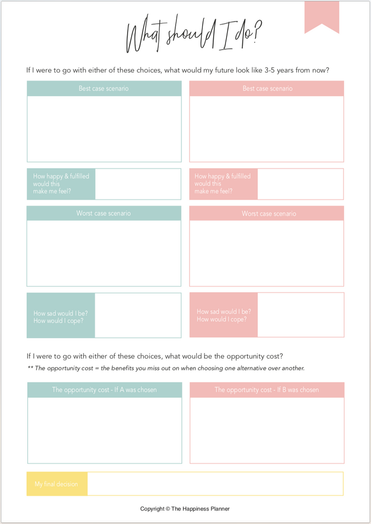 Printables: #DecisionMaking - The Happiness Planner®