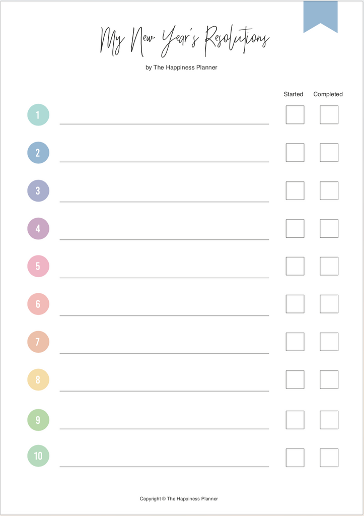 Printables: #Goals - The Happiness Planner®