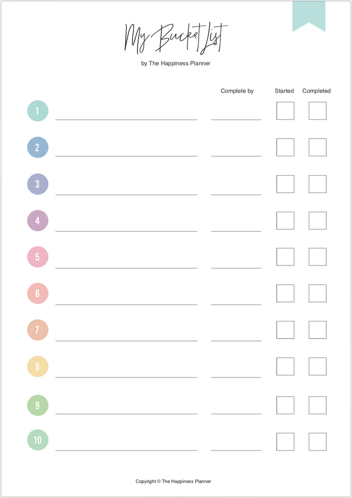 Printables: #Goals I - The Happiness Planner®