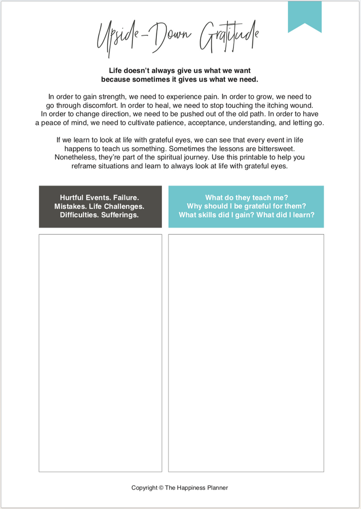 Printables: #Gratitude - The Happiness Planner®
