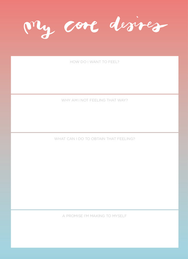 """My Core Desires"" Notepad - The Happiness Planner®"