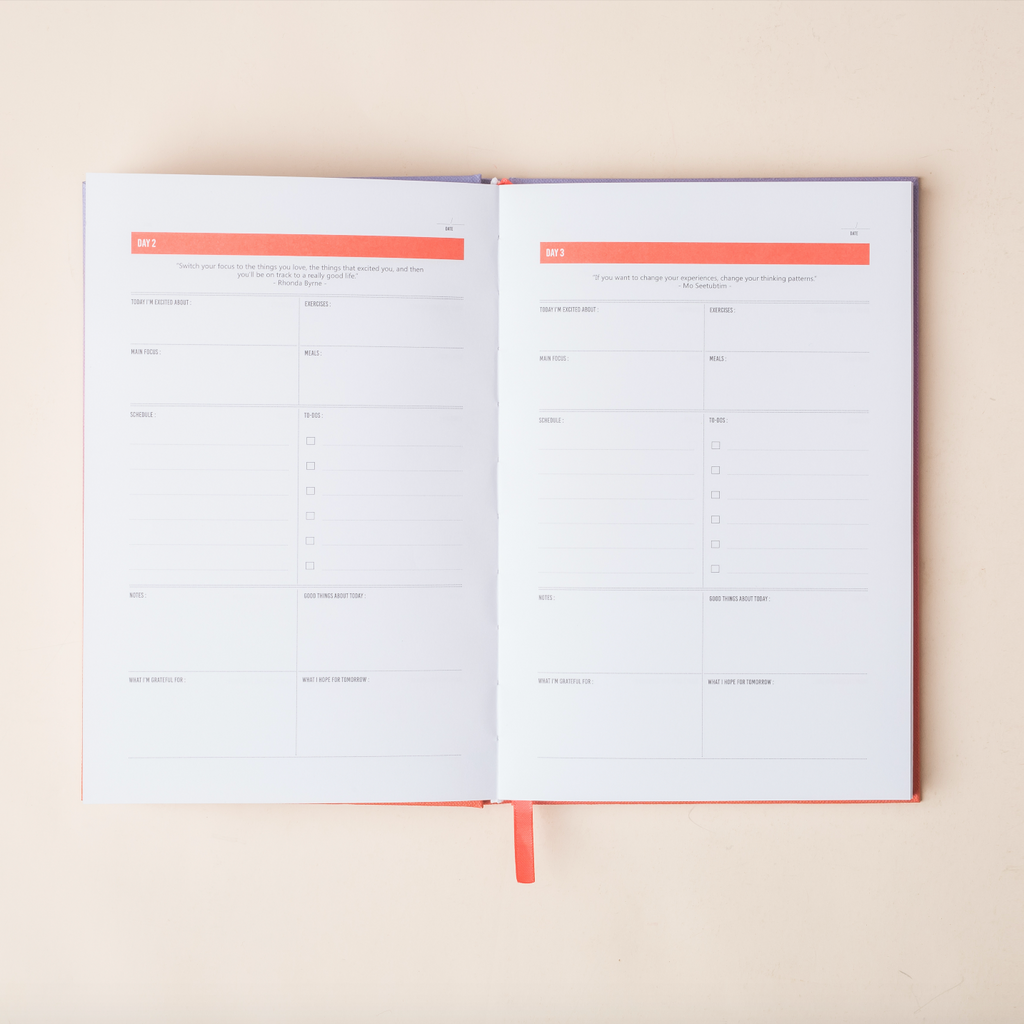 The 100-Day Planner | Lavender & Coral - The Happiness Planner®