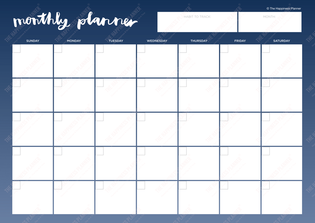 Premium Printables: #Habit/Pattern - The Happiness Planner®