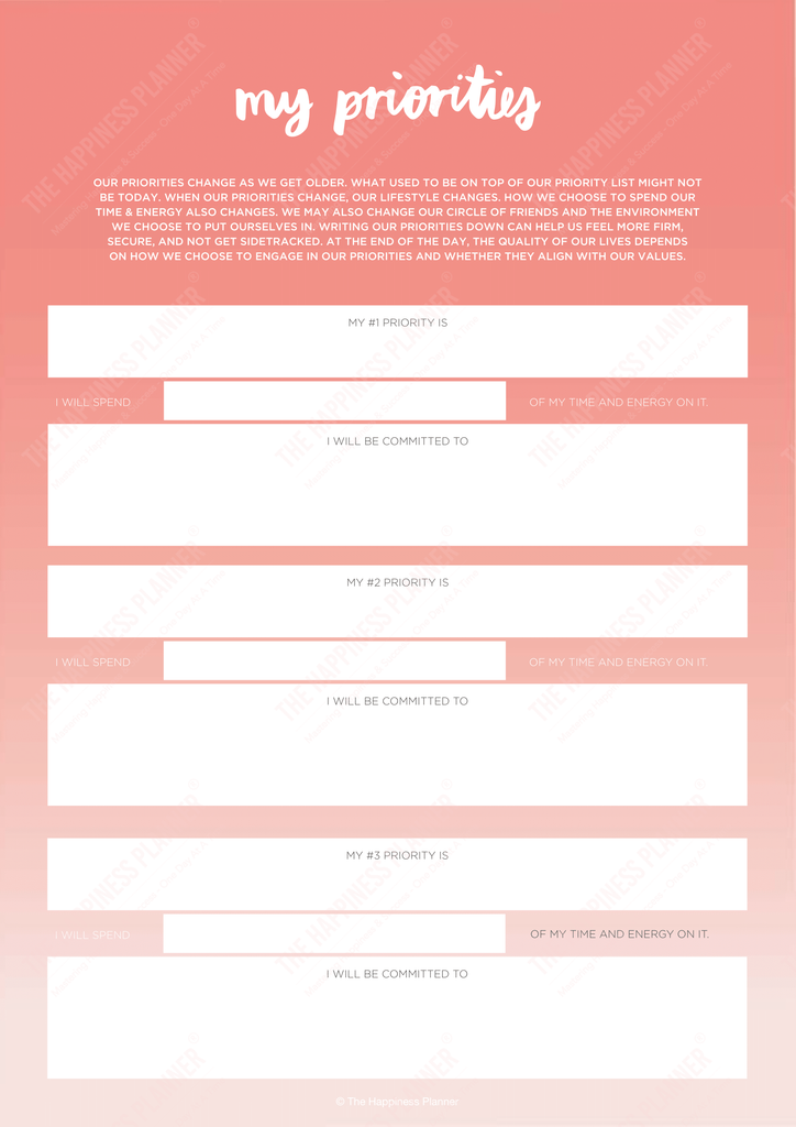 Premium Printables: #Goals - The Happiness Planner®