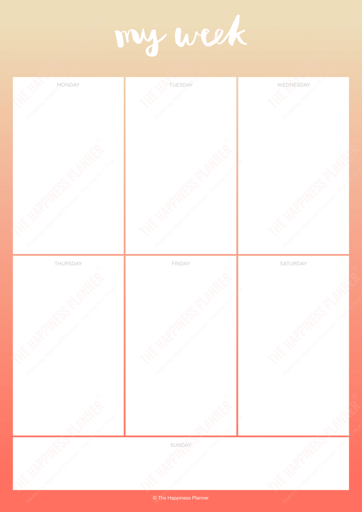 Premium Printables: #Planner - The Happiness Planner®