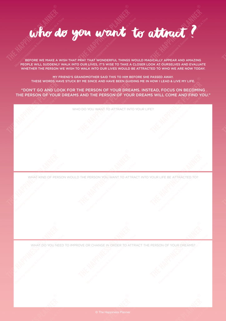 Premium Printables: #LawofAttraction - The Happiness Planner®