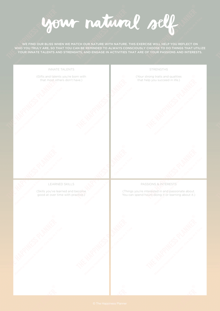 Premium Printables: #SelfAwareness - The Happiness Planner®