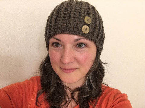 Qiviut hat Hand Crocheted by Qiveut Designs