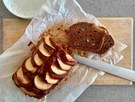 Naturally sweetened Apple Pecan Bread