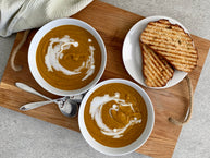 Carrot Masala Peanut Butter Soup Recipe
