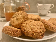 Scrumptious Honey Oat Biscuits