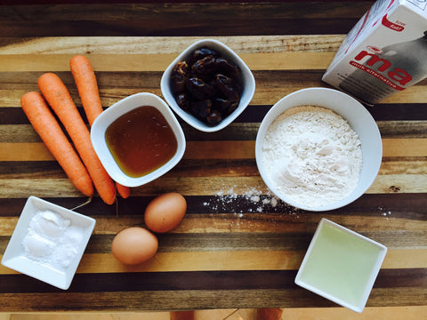 ingredients-easy-carrot-date-muffin