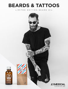Beards & Tattoos beard oil - Rӕdical Raedical