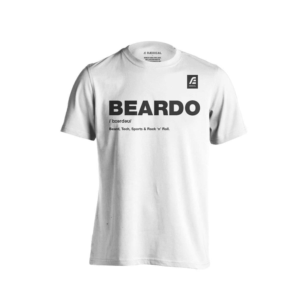 Raedical Beardo Tee White - Rӕdical Raedical