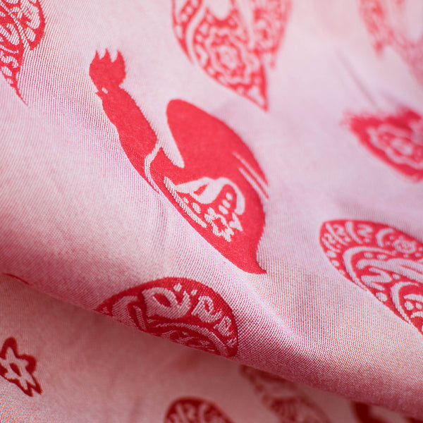Sestrice Roosters Wild Poppy Silk & Bamboo