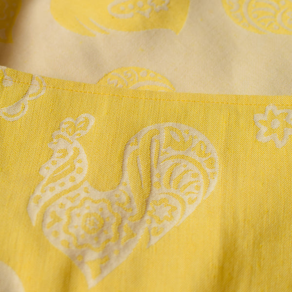 Linen Roosters Buttercup