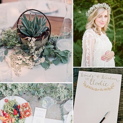 LIGHT & AIRY OUTDOOR BABY SHOWER!