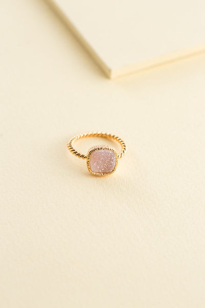 SAS CUSHION CUT DRUZZY RING