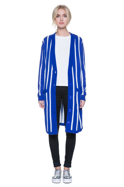 LONG SLEEVE VERTICAL STRIPE JACKET