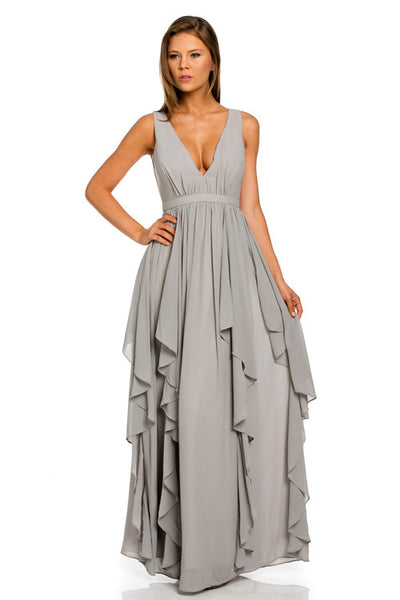 TIKI HALTER NECK MAXI DRESS