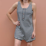 Madame Solar Stripe Shorty Romper