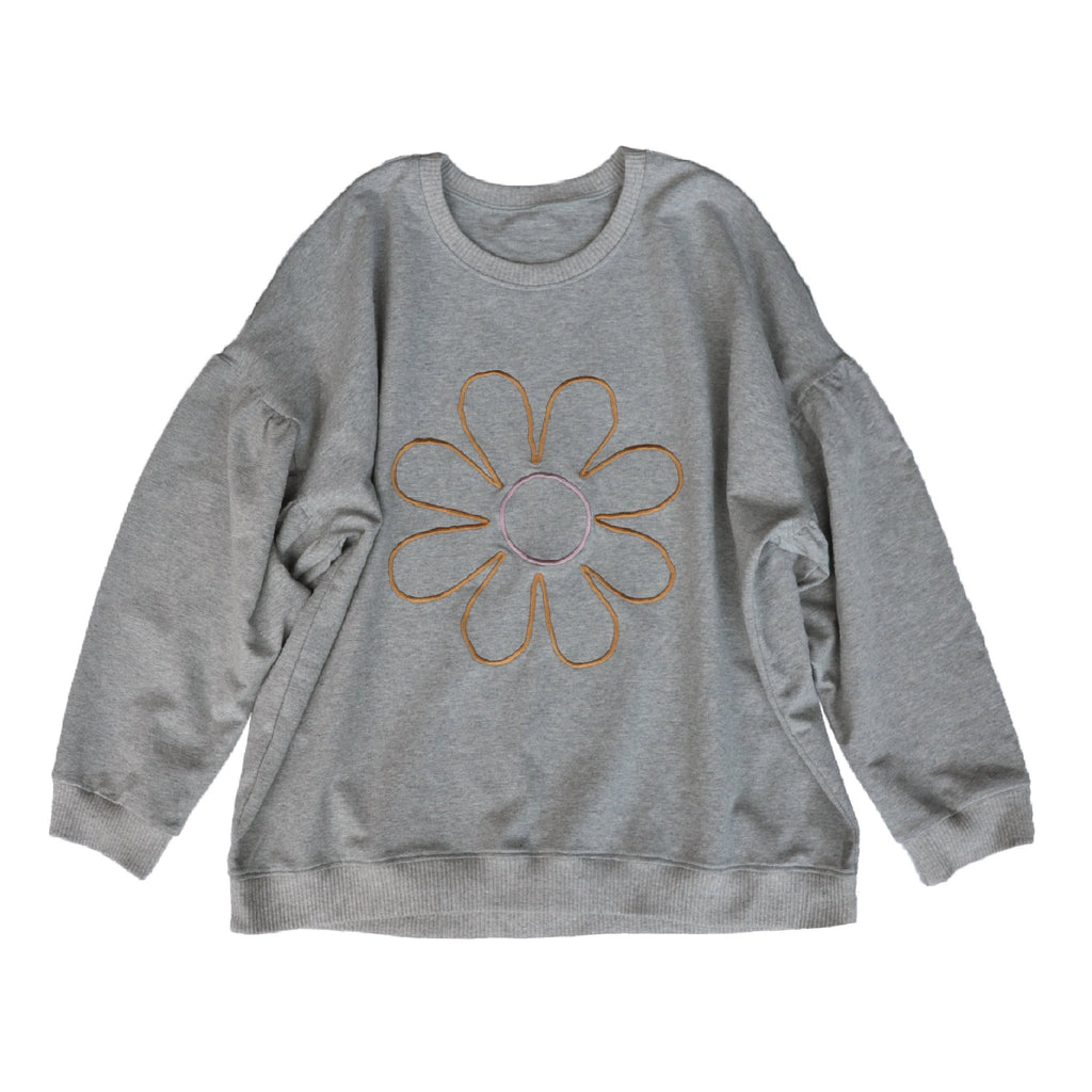 Madame Daisy Embroidered Sweater ~ Medium, Large