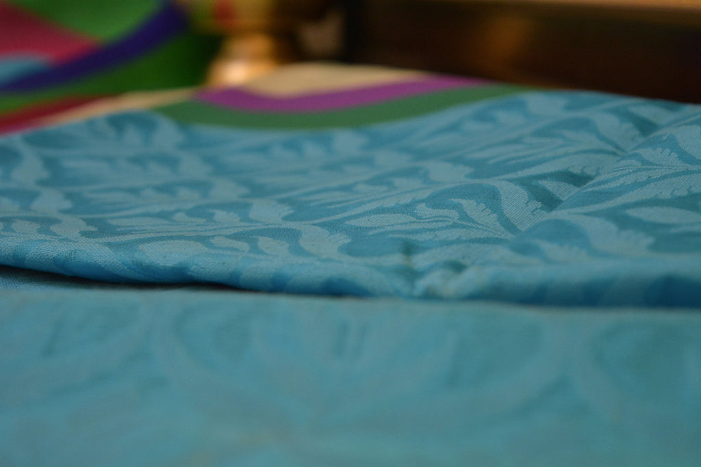 Pure Banaras Cotton Silk Kora Washket Jaal
