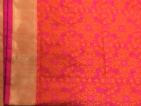 Pure Silk Banarasi Tanchoi With Resham Work