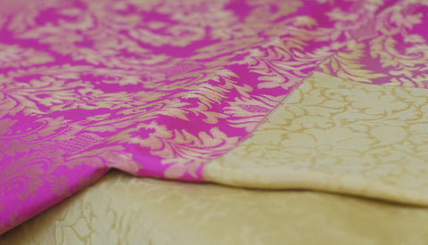 Pure Banaras Silk Saree Washket Jaal Kadiyal