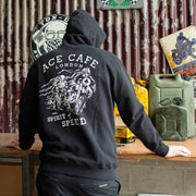 Red Torpedo Ace Cafe Spirit of Speed (Me ns) Black Hoodie