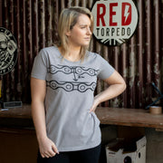 Red Torpedo Chainslack (Ladies) Titanium Grey T-Shirt