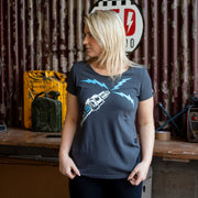 Sparkplug Black T-Shirt Ladies