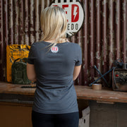Red Torpedo Sparkplug (Ladies) Black T-Shirt