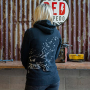 Red Torpedo Guy Martin Spannerrap Black (Ladies) Hoodie