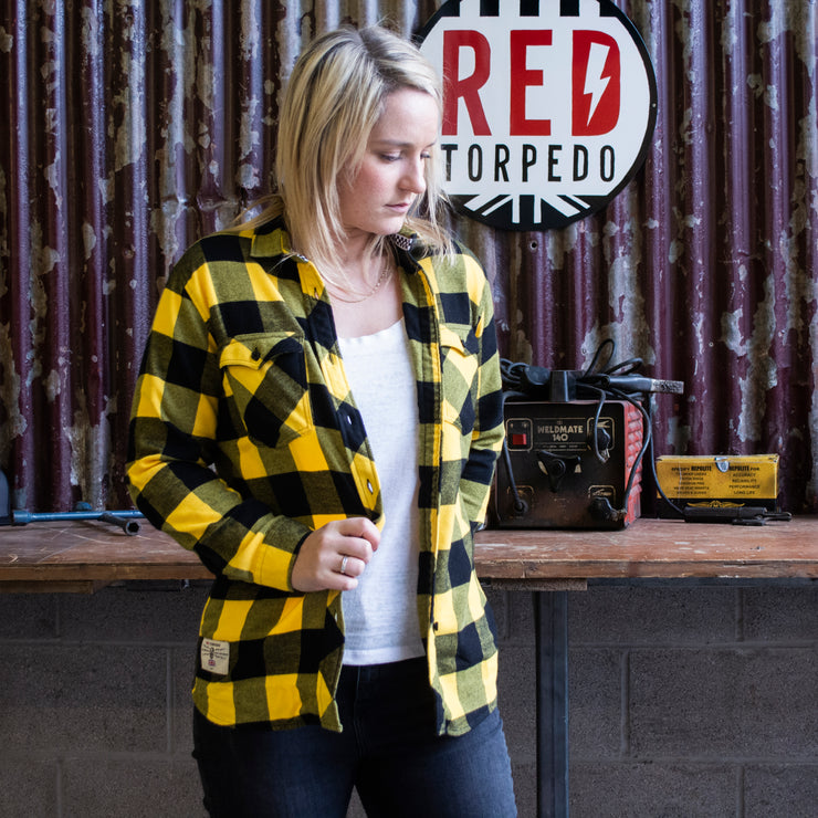 Red Torpedo LIMITED EDITION | V Twin 2020 (Ladies) Mustard/Black Shirt