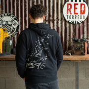 Red Torpedo Guy Martin Spannerrap Black (Mens) Hoodie