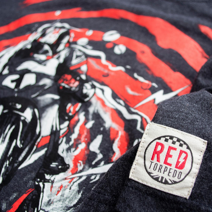 Red Torpedo Conor Cummins Caffiend (Mens) Anthracite T-Shirt