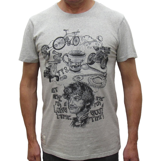 Guy Martin Good Times T-Shirt - Grey Marl